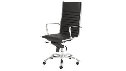 Kinsey High Back Office Chair - Black/Chrome