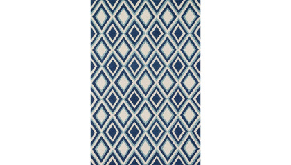 Nautilus Blue and Ivory Rug