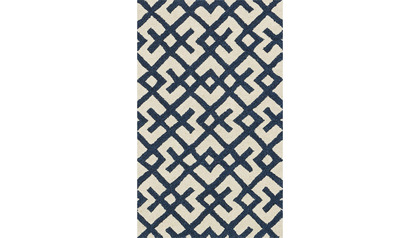 Nautilus Ivory and Navy Rug