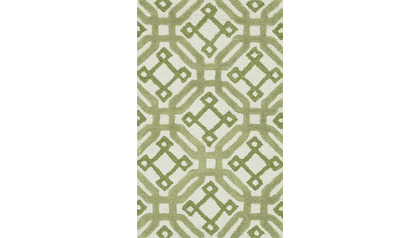 Nautilus Ivory and Green Rug