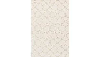 Palani Ivory and Silver Rug