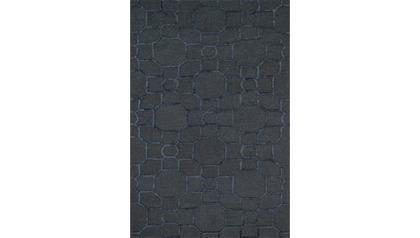 Palani Charcoal and Black Rug