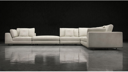 Persis L Sectional Sofa with Ottoman