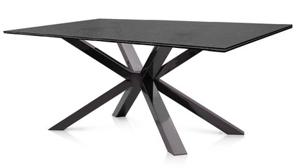 Cointet 75 Inch Black Stainless Dining Table