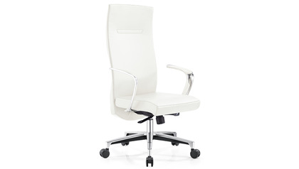 Tisch Leather Executive Chair - White