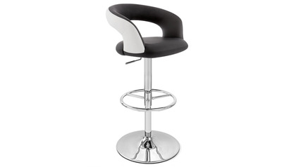 Monza Black and White Bar Stool