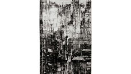 Nova Crosshatch Rug - Black/Gray