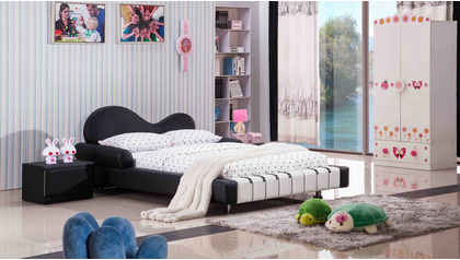 Piano Leather Kids Bed
