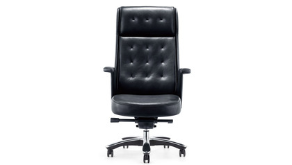 Rockefeller Leather Executive Chair - Black
