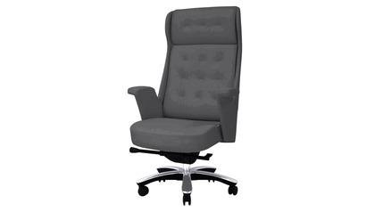 Rockefeller Leather Executive Chair - Dark Gray
