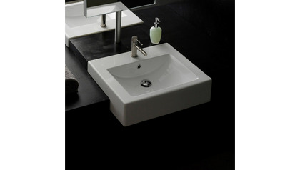 Square Semi-Recessed Sink