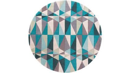 Schism Prix Rug - Teal/Grey