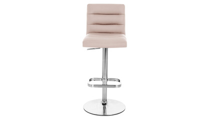 Taupe Lush Bar Stool - Chrome