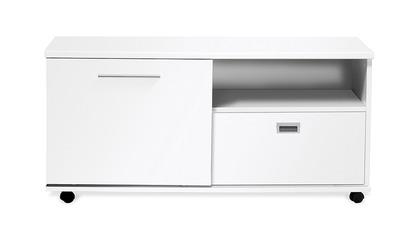White Delano Side Cabinet