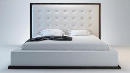 Siena Bed - White on Wenge