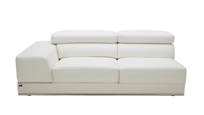 Wynn 3 Seater with Arm - White
