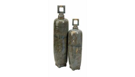 Laertes Ceramic Vase with Stopper - Set of 2