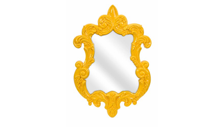 Finely Yellow Baroque Wall Mirror
