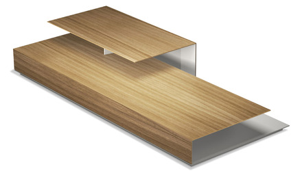 Accius Coffee Table - Natural Oak and Mont Blanc
