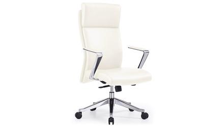 Draper Leather Executive Chair - White