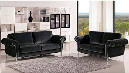 Amora Sofa and Loveseat Set with Armchair