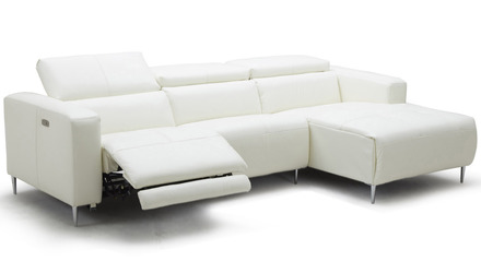 Aria Reclining Sectional - White