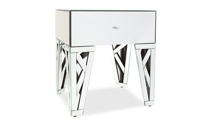 Azure Mirrored End Table