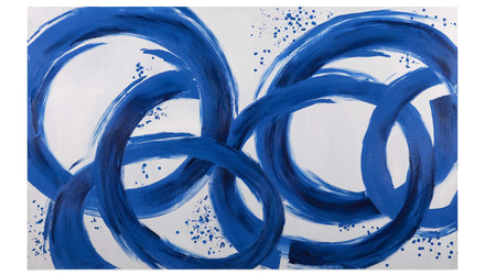 "Blue Loops Canvas Art - 80"" x 50"""