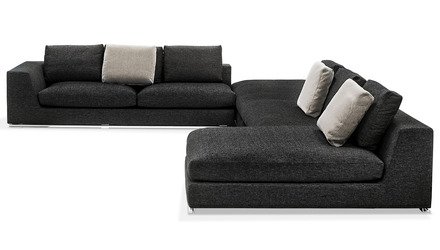 Comodo Sectional - Charcoal