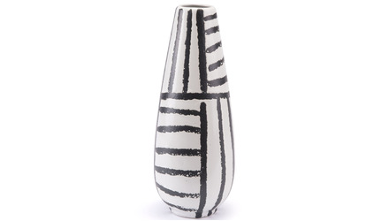 Croma Medium Vase Black & White