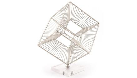 Cuadrado Figurine Paperweight Silver