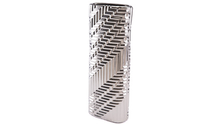 Escher Mod Vase Large Matte Silver