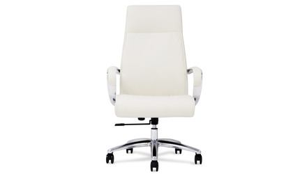 Forbes Leather Executive Chair - White