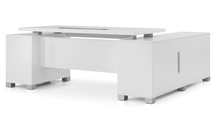 Ford Desk with Return - White