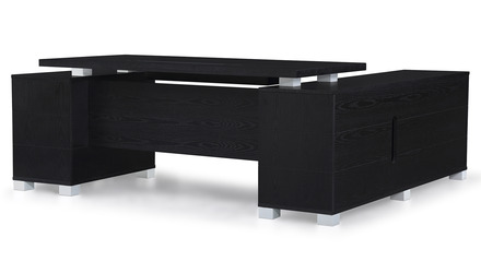 Ford Desk with Return - Black Oak