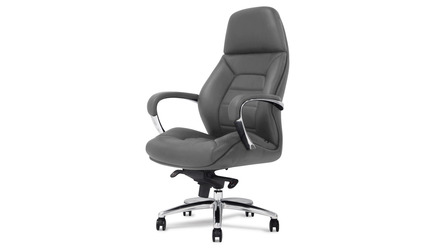 Gates Leather Executive Chair - Dark Grey