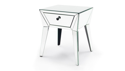 Lave Mirrored End Table