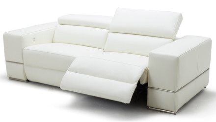 Luxor Reclining Sofa - White