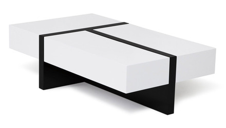 Mcintosh Rectangle Coffee Table - White and Black
