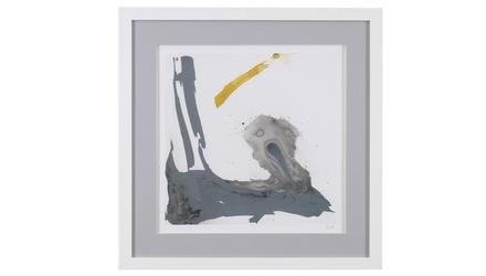 "Minimal Framed Art in Yellow - 31"" x 31"""