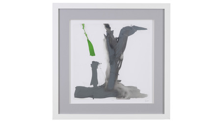 "Minimal Framed Art in Green - 31"" x 31"""