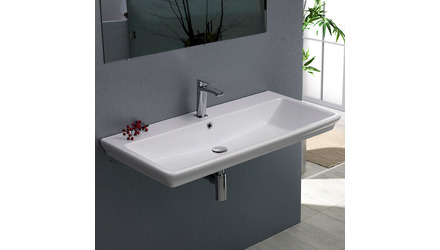 Arica Rectangle Ceramic 32 Inch Sink