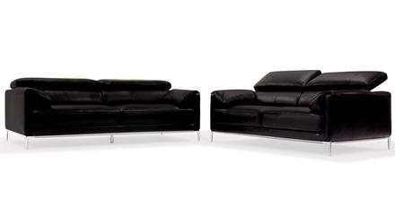 Eaton Sofa and Loveseat Set - Black