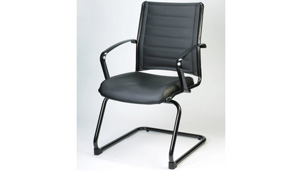 Europa Metallic Leather Side Chair