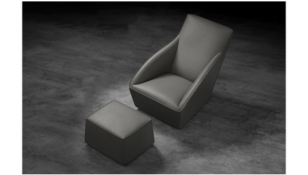 Forba Lounge Chair Ottoman