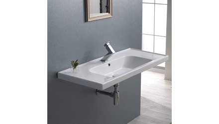 Frame Rectangle Ceramic 40 Inch Sink