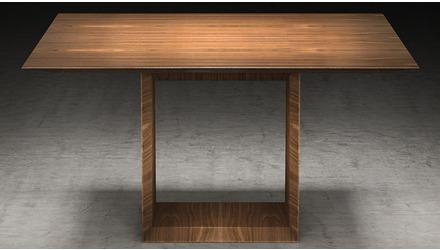Galice Square Dining Table - Walnut