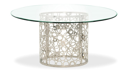 Galileo 72 Inch Clear Glass Dining Table