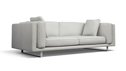 Jacy Leather Sofa - White