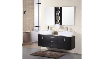 "Kaylee 61"" Double Sink Vanity Set"